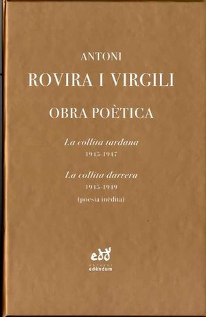 ROVIRA I VIRGILI OBRA POÈTICA - 2 VOL