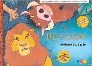 EL REY LEÓN. NÚMEROS DEL 1 AL 10