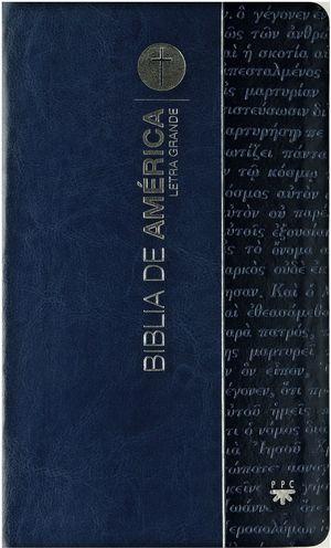 BIBLIA DE AMERICA L/G AZUL(FLEXIBLE)