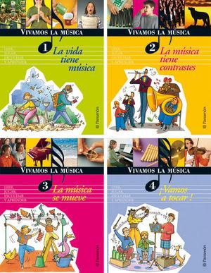 VIVAMOS LA MÚSICA (4 TOMOS) + 2 CDS