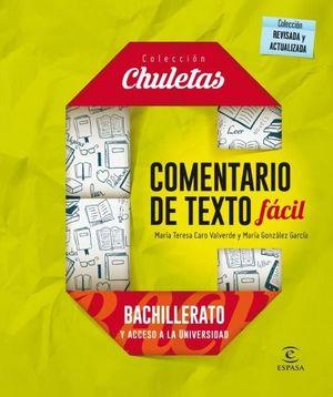 COMENTARIOS TEXTO FACIL PARA BACHILLERATO