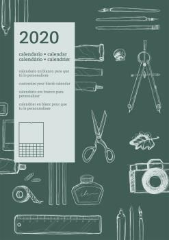 2020 CALENDARIO PARED DIY INTERNACIONAL